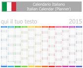 2015 italské Plánovač kalendář s vertikální měsíců — Stock vektor