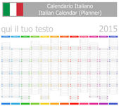 2015 Italian Planner-2 Calendar with Vertical Months — Stock Vector