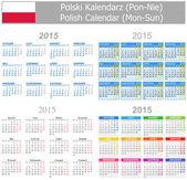 2015 Polish Mix Calendar Mon-Sun — Stock Vector