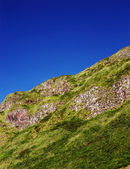 Fragment of a Northern Irish cliffs overgrown with grass — Foto Stock