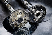 Cam shaft of a turbo diesel engine — Stock Photo