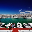 Luxury yachts and motor boats in Puerto Banus marina in Marbella, Spain — Stock Photo #50360157