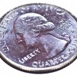 Stock Photo: Quarter Dollar