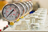 Hydraulic Pressure Gauge — Stock Photo