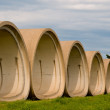 Cement Tubes — Stock Photo