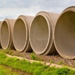 Cement Tubes — Stock Photo