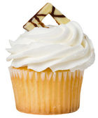 Vanilla Cupcake Isolated — Stock Photo