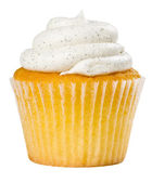 Vanilla Bean Cupcake Isolated — Stock Photo