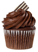 Chocolate Cupcake Isolated — Stock Photo