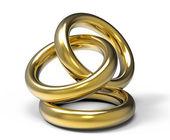Drei ringe — Stockfoto