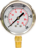 Pressure Gauge with Needle — Stock Photo