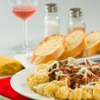 Tomato Meat Pasta — Stock Photo