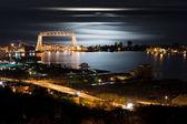 Duluth Minnesota Night Time — Stock Photo