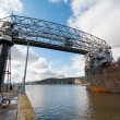 Stock Photo: Aerial Lift Bridge