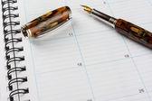 блокнот с ручкой — Стоковое фото