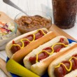 Grilled Hot Dogs — Stock Photo #46976601