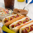 Grilled Hot Dogs — Stock Photo #46976603
