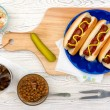 Grilled Hot Dogs — Stock Photo #46976635