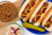 Grilled Hot Dogs — Stock Photo