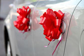 Fragment of Decorated Wedding Car for different uses — Stock Photo