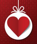 Valentine's day postcard — Stock Vector