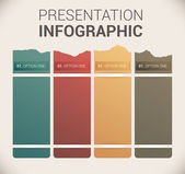 Modern soft color Design template / infographics — Stock Vector