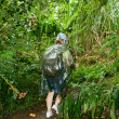 Stock Photo: Female rainforest jungle hiker