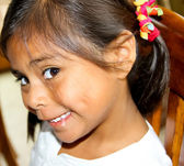 Pretty hispanic female child — Stock Photo