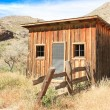 Vintage cowboy fence line cabin 2 — Stock Photo