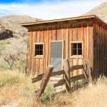 Vintage cowboy fence line cabin 2 — Stock Photo