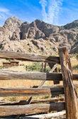 Vintage cowboy fence line cabin 3 — Stock Photo