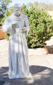 White St Francis of Assisi Statue — Stockfoto