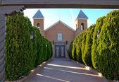 с подсветкой adobe католической миссии — Стоковое фото