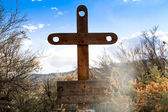 Hand Carved Cross — Stock Photo