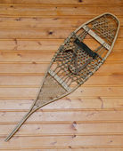 Wall hanging vintage snowshoe — Stock Photo