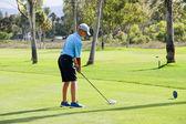 Male golfeur teen conduite — Photo