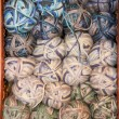 Earth tone variegated yarn skeins for sale — Stock Photo #51698035