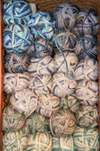 Earth tone variegated yarn skeins for sale — Stock Photo