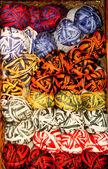 Bright color variegated yarn skeins — Foto de Stock