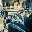 Motorcyclist in city — Stock Photo #12723011