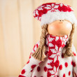 Christmas doll waiting for Santa — Stock Photo #15707319