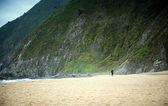 O surfista solitário — Foto Stock