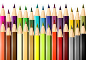 Set of colored pencils — Stock Vector