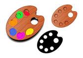 Vector palette — Stock Vector