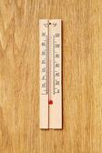 Ahşap termometre — Stok fotoğraf