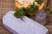 Pumice and handmade soap — Stock Photo