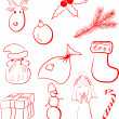 Royalty-Free Stock Imagen vectorial: Xmas set
