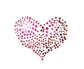 斑点的心 — 图库照片