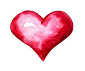 Red heart watercolor — Stock Photo