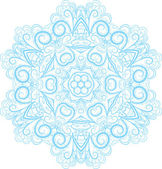 Light Blue Snowflake — Stock Vector